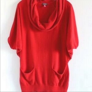 Vince Camuto Dolman Short Sleeve Cowl Neck Sweater